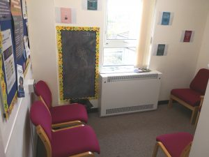 A clinic room at Poole CAMHS