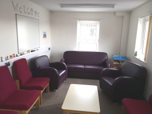 A large clinic room at Poole CAMHS